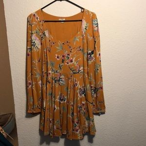Yellow Fall long sleeve dress